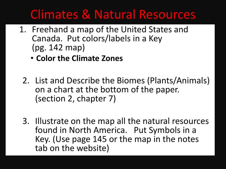 PPT - Climates & Natural Resources PowerPoint Presentation ...