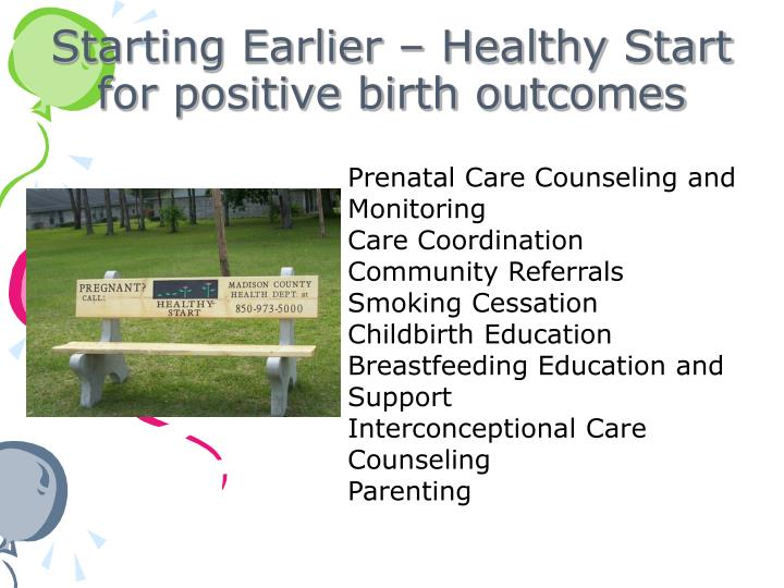 Starting Earlier – Healthy Start for positive birth outcomes