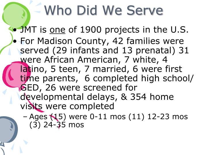 Who Did We Serve