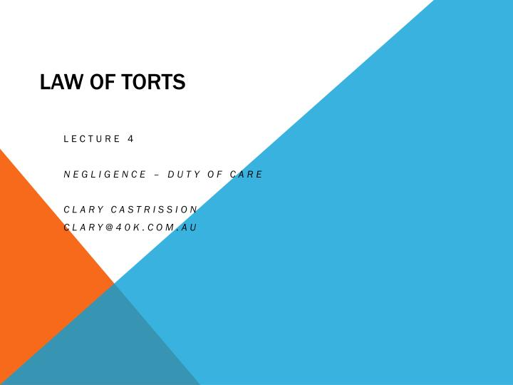 law of torts n.