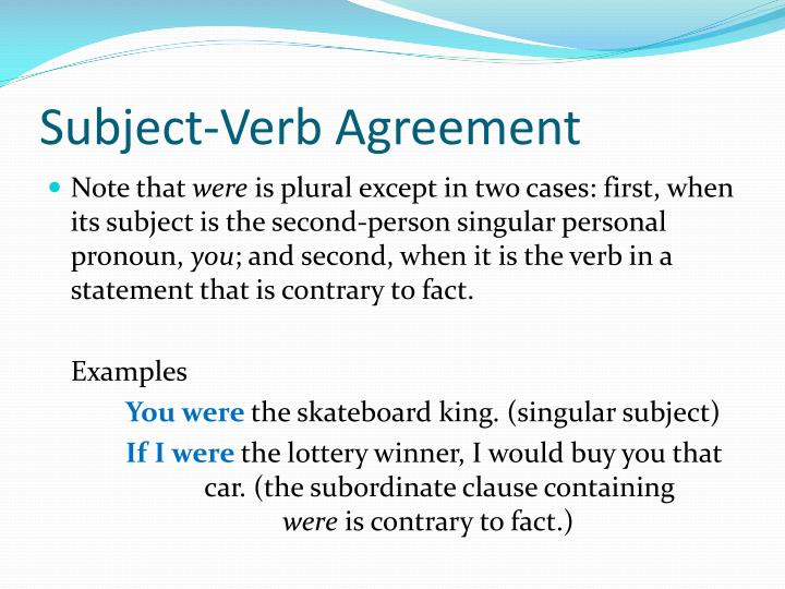 Ppt Subject Verb Agreement Powerpoint Presentation Id2808185