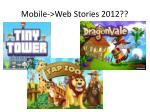 mobile web stories 2012
