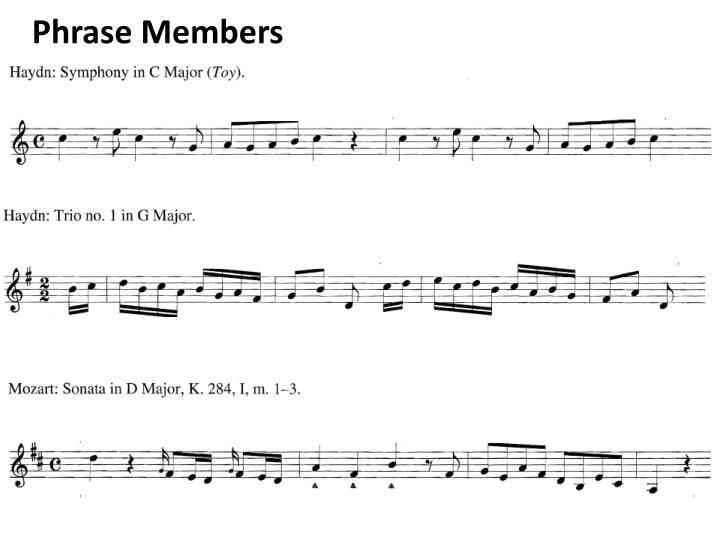 Phrase Members