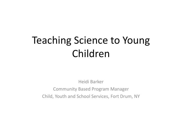 teaching science to young children n.