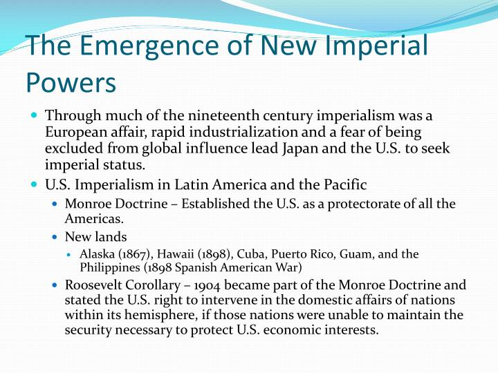 The Emergence of New Imperial Powers