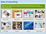 ways of advertising