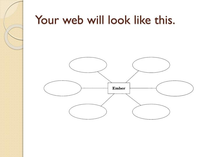 Your web will look like this.