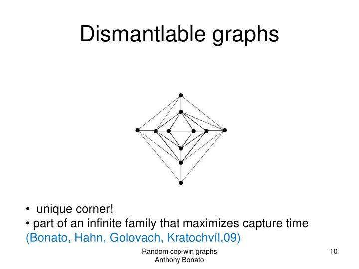 Dismantlable graphs
