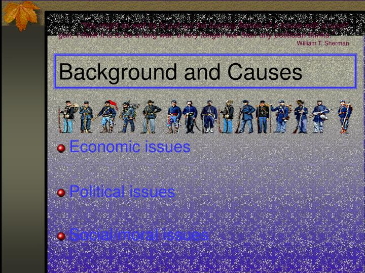 Background and causes