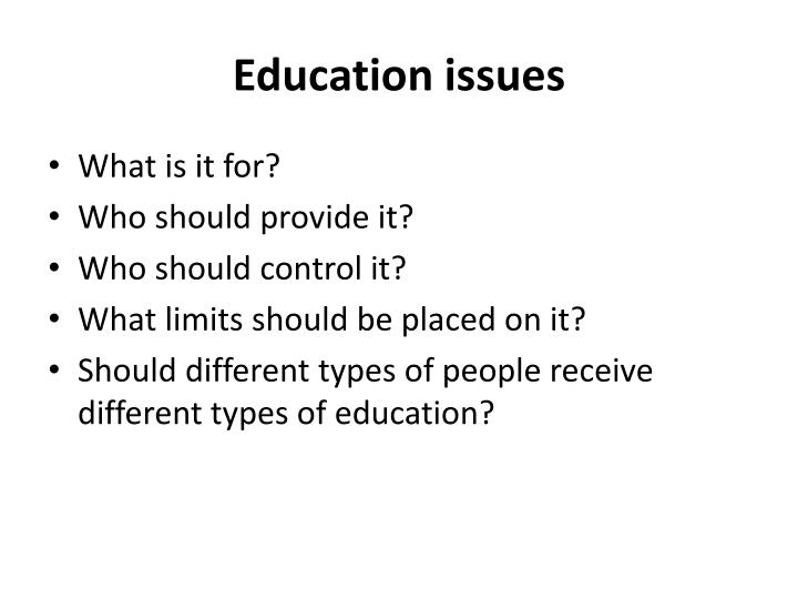 Education issues