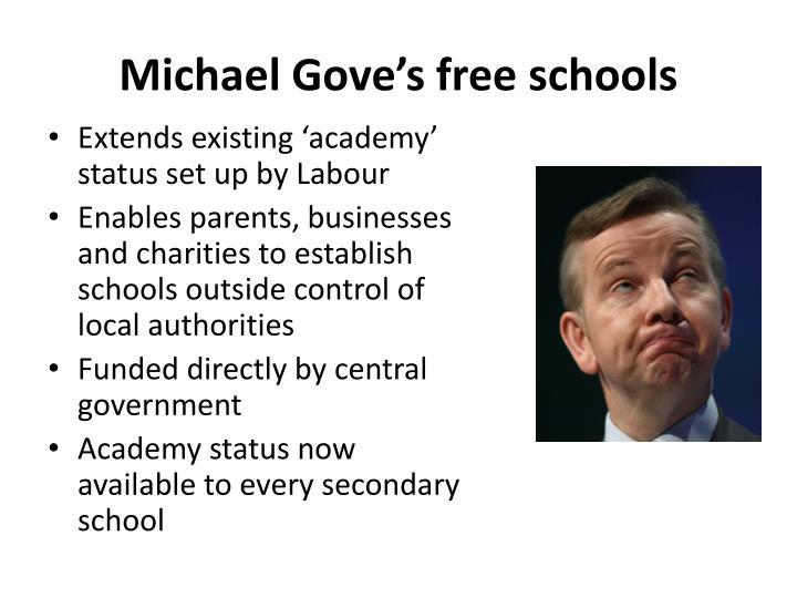 Michael Gove's free schools