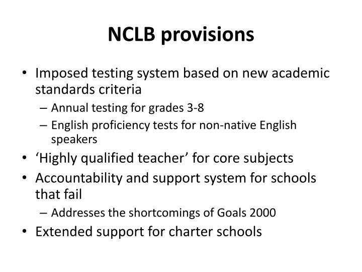 NCLB provisions