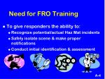 need for fro training1