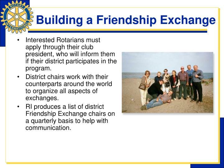 Building a Friendship Exchange