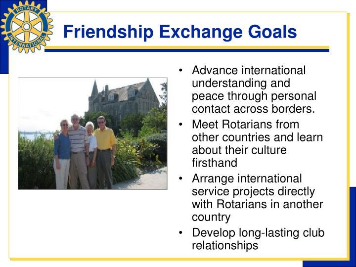 Friendship exchange goals