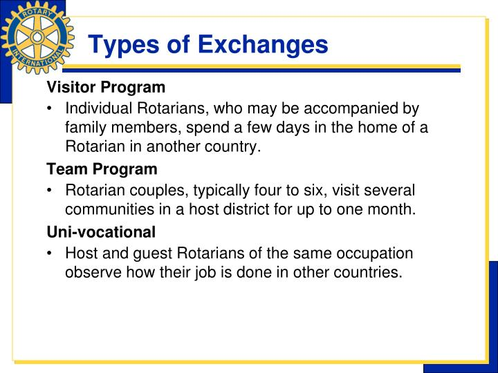 Types of Exchanges