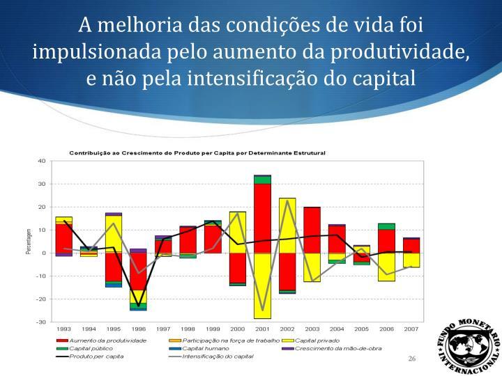 A melhoria das condições de vida foi impulsionada pelo aumento da produtividade, e não pela intensificação do capital