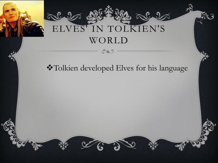 Elves in tolkien s world1