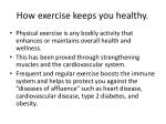 how exercise keeps you healthy