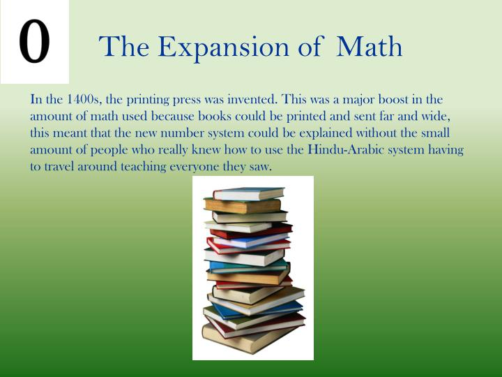 The Expansion of Math