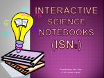 interactive science notebooks isn s