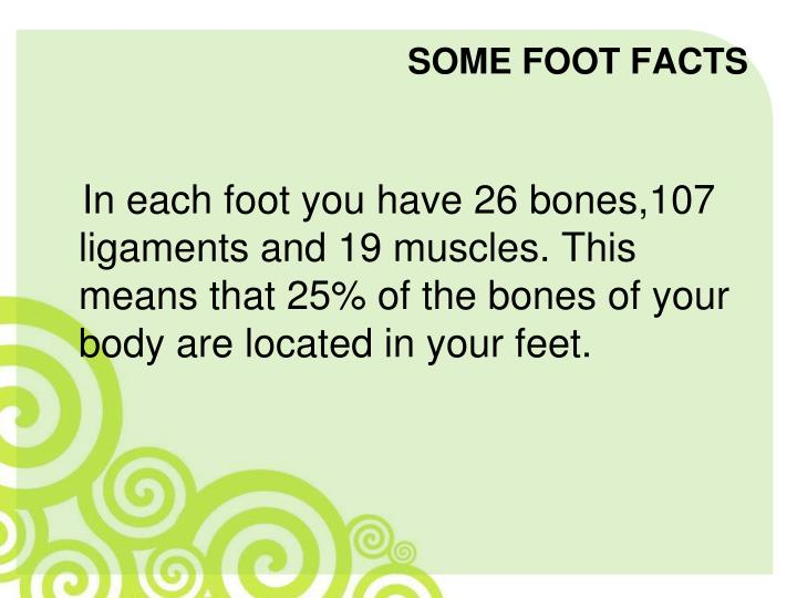 Some foot facts