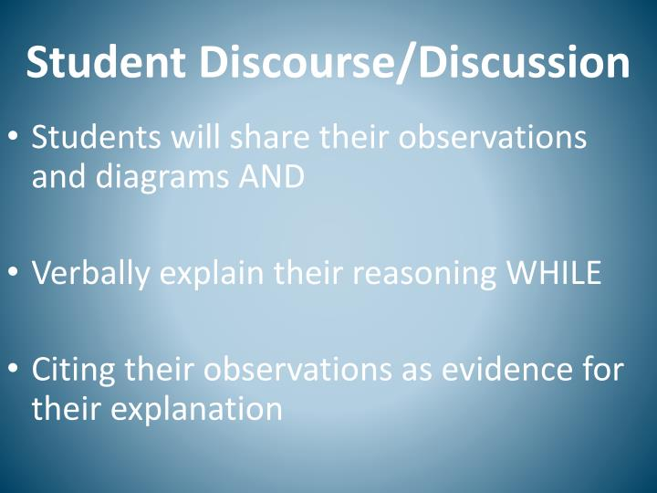 Student Discourse/Discussion