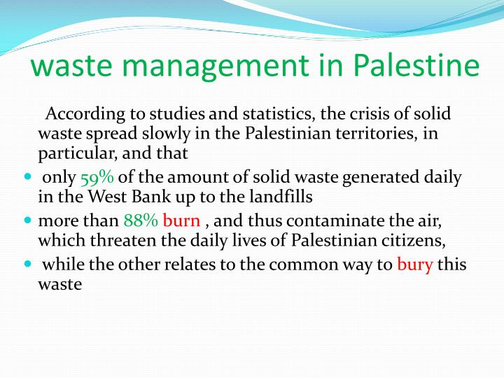 waste management in Palestine