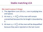 stable matching lca1