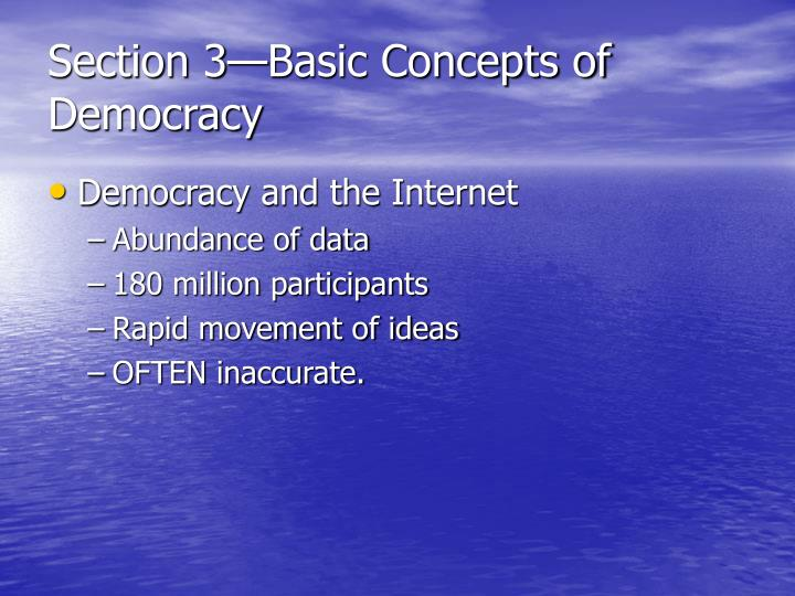 Section 3—Basic Concepts of Democracy