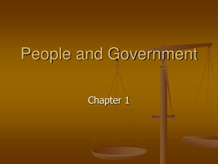 people and government n.