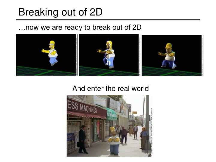 Breaking out of 2d