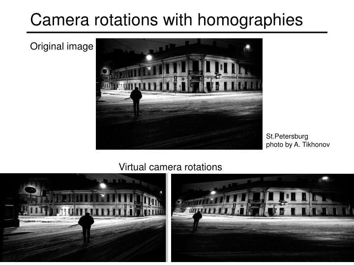 Camera rotations with homographies
