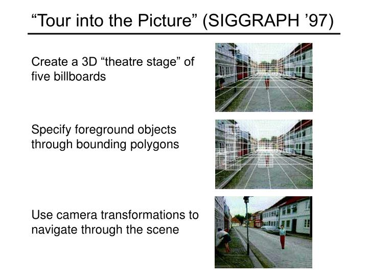 """""""Tour into the Picture"""" (SIGGRAPH '97)"""