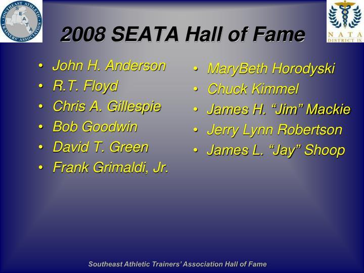 2008 SEATA Hall of Fame