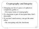 cryptography and integrity
