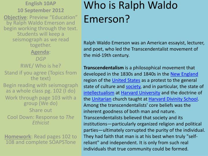 Who is Ralph Waldo Emerson?