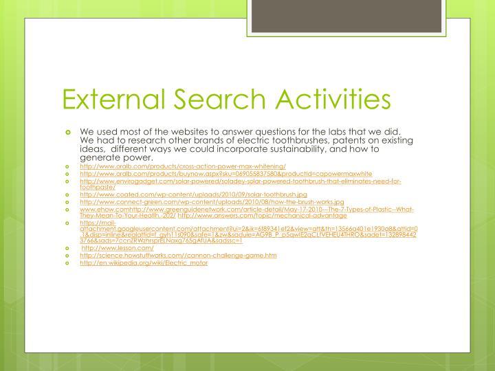 External Search Activities