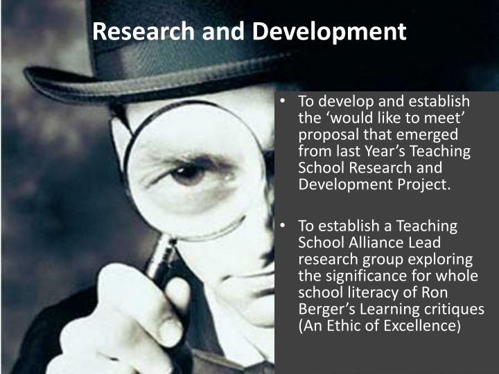 research and development n.