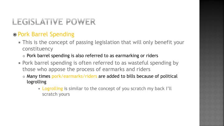 Legislative power