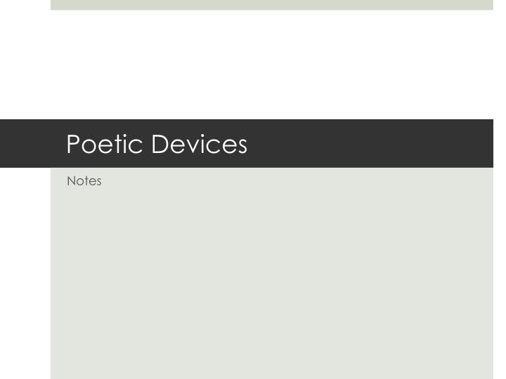 PPT - Poetic Devices PowerPoint Presentation - ID:2810365