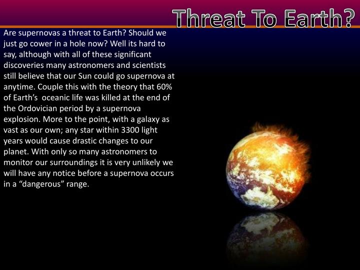 Threat To Earth?