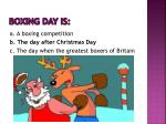 boxing day is