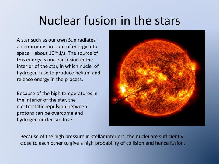 Nuclear fusion in the stars