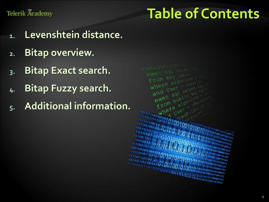 PPT - Bitap Algorithm PowerPoint Presentation - ID:2810800