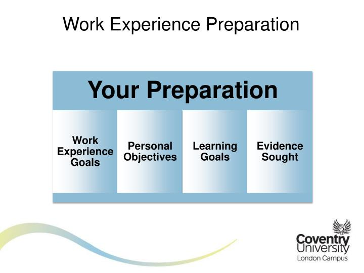 learning goals for work experience