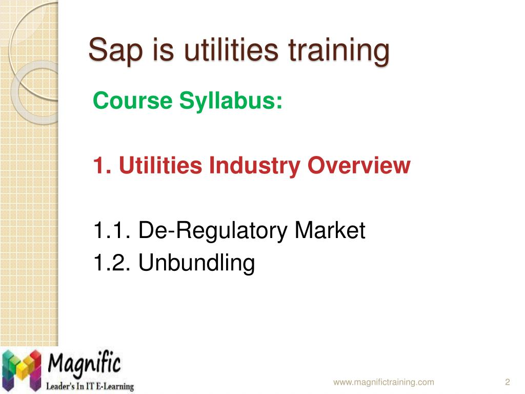 PPT - sap is utilities online training PowerPoint