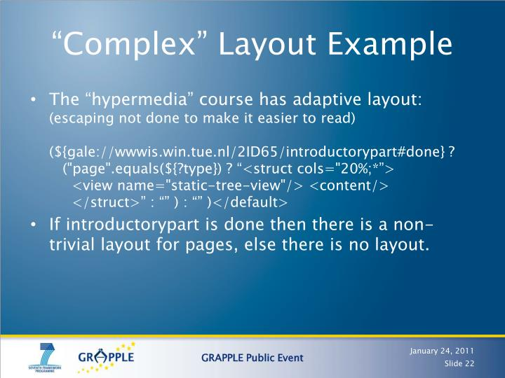 """""""Complex"""" Layout Example"""