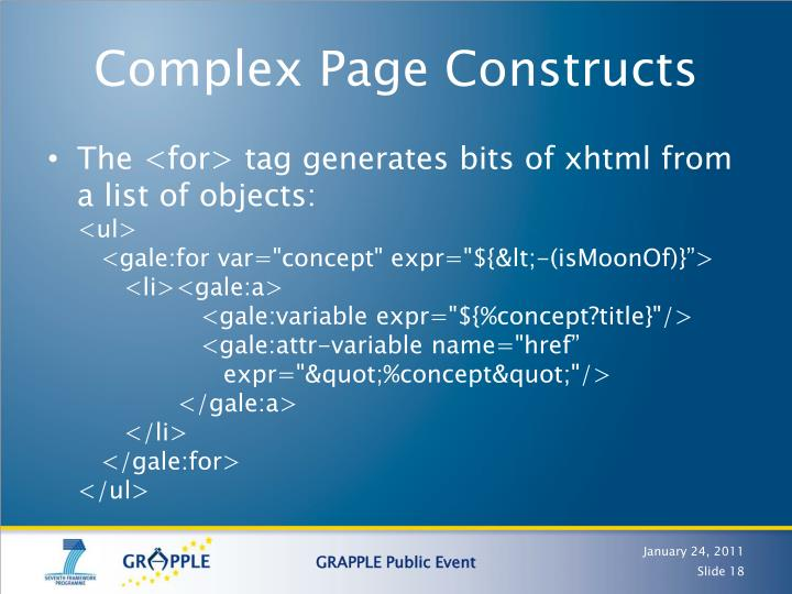 Complex Page Constructs