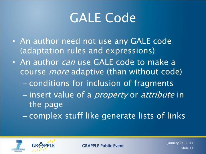 GALE Code